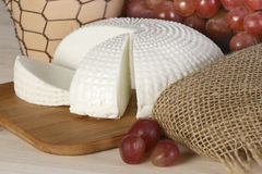 Cheese and grapes - countryside snack Royalty Free Stock Photography