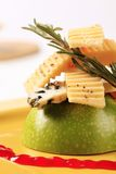 Cheese and green apple Stock Photography