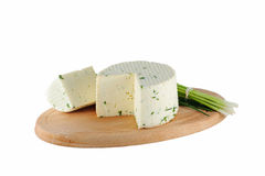 Cheese with green onions Stock Photography