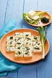Cheese with greens Royalty Free Stock Images