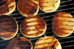 Cheese on the grill Royalty Free Stock Photo
