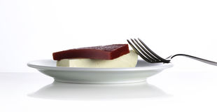 Cheese and guava Stock Photos