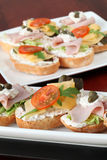 Cheese and ham appetizers Royalty Free Stock Photo