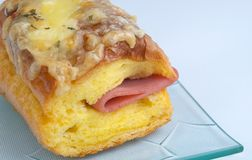 Cheese and Ham Bun Royalty Free Stock Photo