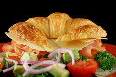 Cheese And Ham Croissant 5 Stock Image