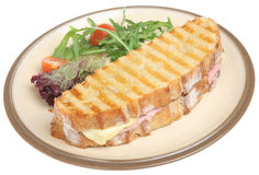 Cheese & Ham Panini Royalty Free Stock Image
