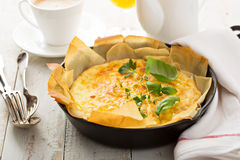 Cheese and ham quiche Stock Photography