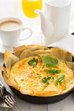 Cheese and ham quiche Royalty Free Stock Images
