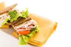Cheese and Ham Sandwich 2 Royalty Free Stock Photos