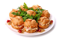 Cheese and ham stuffed buns Royalty Free Stock Photos