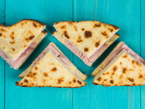 Cheese and Ham Toasted Bread Sandwich Royalty Free Stock Photo