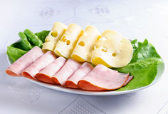 Cheese and ham Royalty Free Stock Images