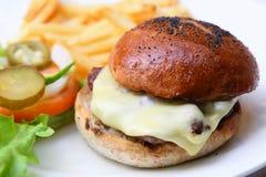 Cheese hamburger Royalty Free Stock Photos