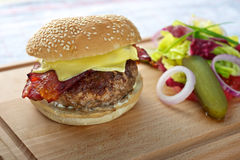 Cheese Hamburger Royalty Free Stock Photo