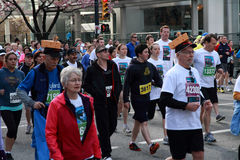 Cheese Head Racers at  2013 Vancouver Sun Run Stock Photo