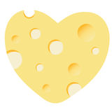 Cheese heart  illustration Stock Photos