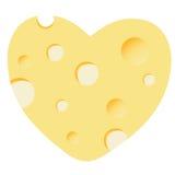 Cheese heart  illustration Stock Photos