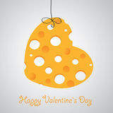 Cheese heart  illustration Stock Image