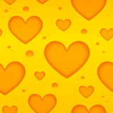 Cheese hearts vector seamless pattern Royalty Free Stock Photos