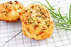 Cheese and herb biscuits Royalty Free Stock Photos
