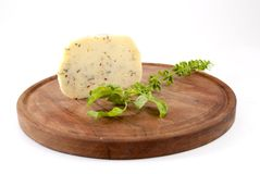 Cheese with herbs Royalty Free Stock Photos