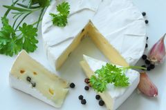 Cheese with herbs Royalty Free Stock Photo