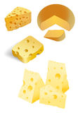 Cheese with holes Stock Images