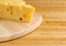 Cheese with holes Royalty Free Stock Photography