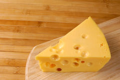 Cheese with holes Royalty Free Stock Image