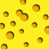 Cheese with holes background vector Stock Photography