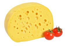 Cheese with holes Royalty Free Stock Photos