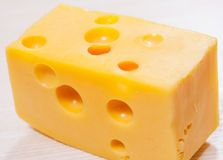 Cheese with holes Stock Image