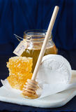 Cheese and honey. Royalty Free Stock Photos