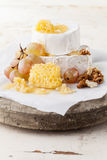 Cheese with honey Royalty Free Stock Photo