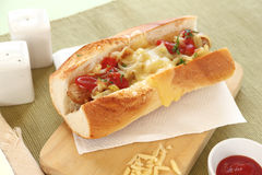 Cheese Hot Dogs Stock Photos