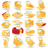 Cheese icon character collection Stock Photography