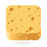 Cheese icon Royalty Free Stock Image