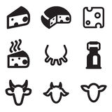 Cheese Icons Stock Photography