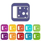 Cheese icons set Royalty Free Stock Image
