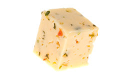 Cheese on isolated Stock Images