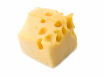 Cheese is isolated Royalty Free Stock Photo