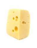 Cheese is isolated Stock Images