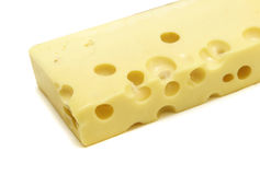 Cheese isolated. On the white Royalty Free Stock Images