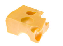 Cheese isolated on white Royalty Free Stock Images