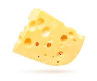 Cheese isolated on white Stock Images