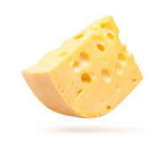 Cheese isolated on white Royalty Free Stock Image