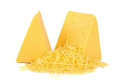 The cheese isolated on white background Stock Photo