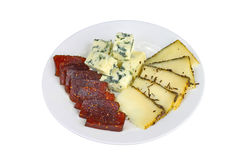 Cheese and jam Royalty Free Stock Images