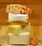 Cheese kinds Royalty Free Stock Photo