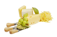 Cheese with knife Stock Image
